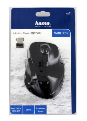 Мышь Hama MW-500 черный (00182632) - фото 3