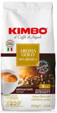 Кофе зерновой Kimbo Aroma Gold 100% Arabica 1000 грамм