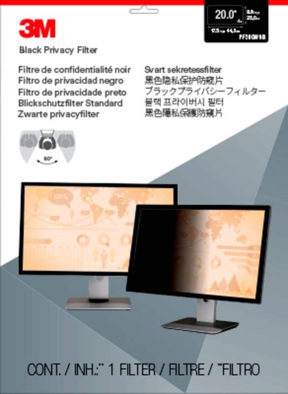 """Пленка защиты информации для ноутбука 20"""" 3M PF200W9B черный (7000021449) - фото 1"""