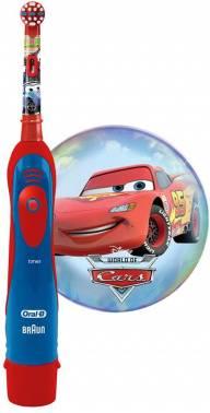 Электрическая зубная щетка Oral-B Power Cars красный/синий