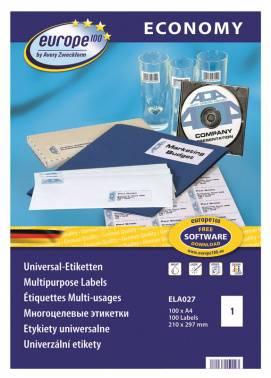 Этикетки Europe100 ELA027-100 A4 70г/м2 100л.