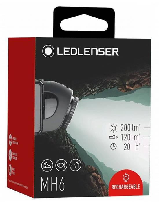 Налобный фонарь Led Lenser MH6 черный (501512) - фото 5