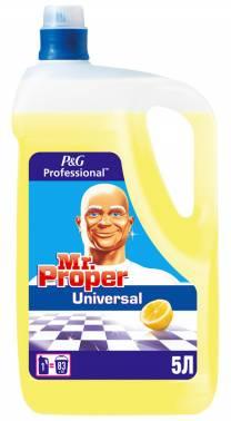 Средство для мытья пола Mr. Proper Professional Universal 5л лимон (0001008227)