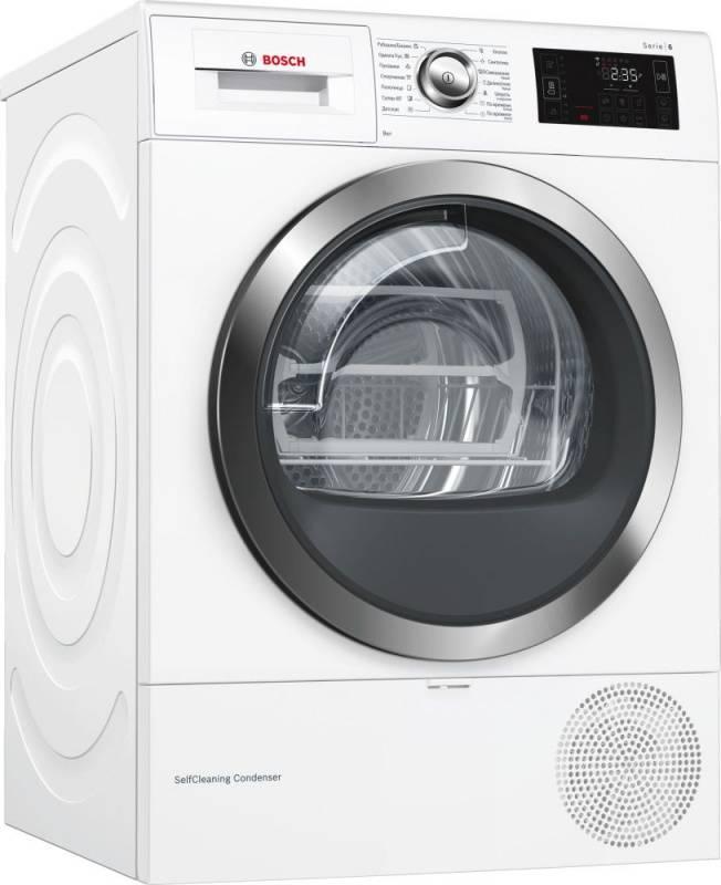Сушильная машина Bosch WTW876H0OE белый - фото 1