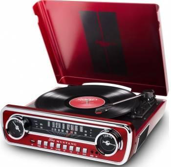 Виниловый проигрыватель ION Audio Mustang LP красный (MUSTANG LP RD)