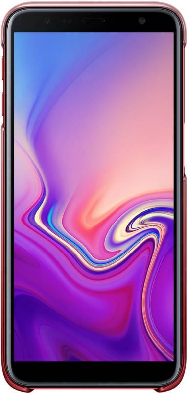 Чехол Samsung Gradation Cover, для Samsung Galaxy J6+ (2018), красный (EF-AJ610CREGRU) - фото 2