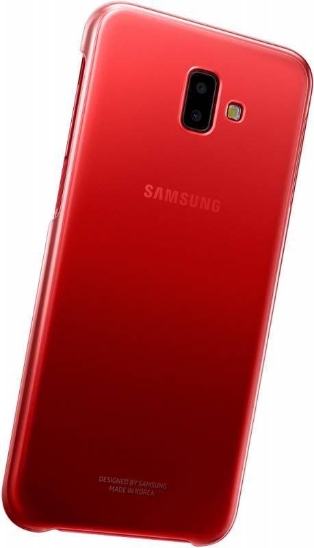 Чехол Samsung Gradation Cover, для Samsung Galaxy J6+ (2018), красный (EF-AJ610CREGRU) - фото 3
