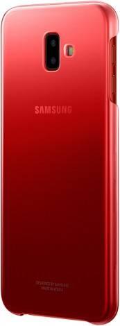 Чехол Samsung Gradation Cover, для Samsung Galaxy J6+ (2018), красный (EF-AJ610CREGRU) - фото 4