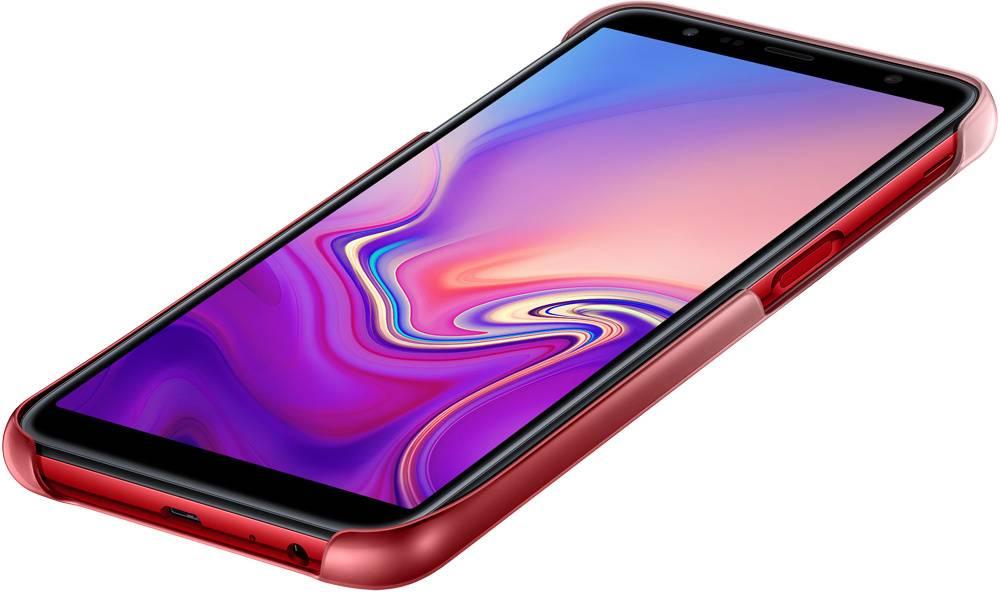 Чехол Samsung Gradation Cover, для Samsung Galaxy J6+ (2018), красный (EF-AJ610CREGRU) - фото 5
