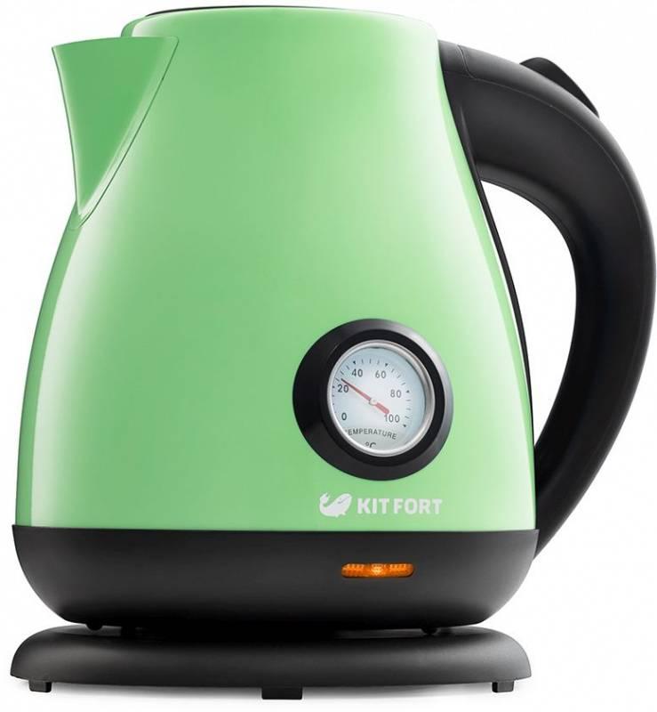 Чайник электрический Kitfort КТ-642-6 светло-зеленый - фото 1