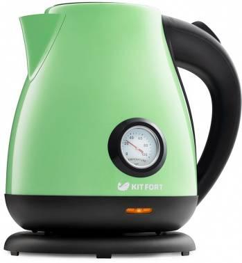 Чайник электрический Kitfort КТ-642-6 светло-зеленый