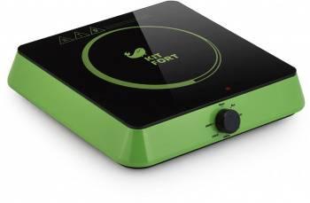 Плита Электрическая Kitfort КТ-113-2 зеленый/черный