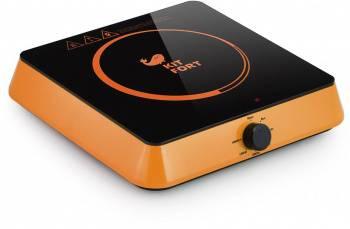 Плита Электрическая Kitfort КТ-113-3 оранжевый/черный