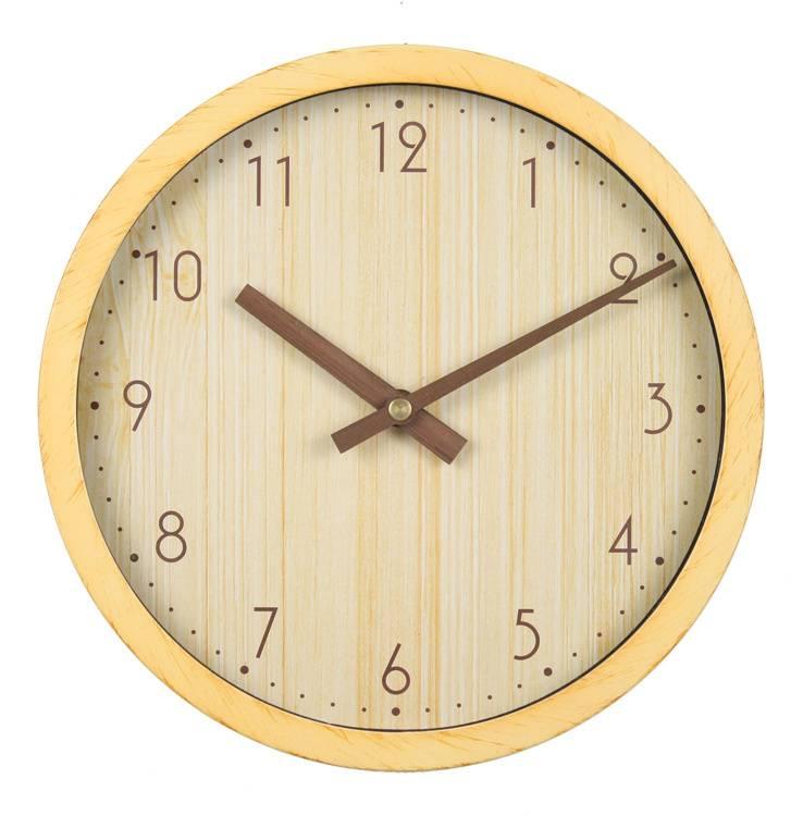 Настенные часы Бюрократ Wood WALLC-R60P бежевый (WALLC-R60P/WOOD-W) - фото 1