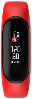 Смарт-браслет Smarterra FitMaster Color TFT красный/черный
