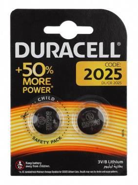 Батарея CR2025 Duracell DL/CR2025, в комплекте 2шт.