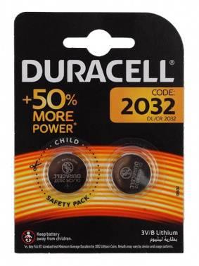 Батарея CR2032 Duracell DL/CR2032, в комплекте 2шт.