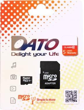 Карта памяти microSDXC 64Gb Class10 Dato (DTTF064GUIC10)