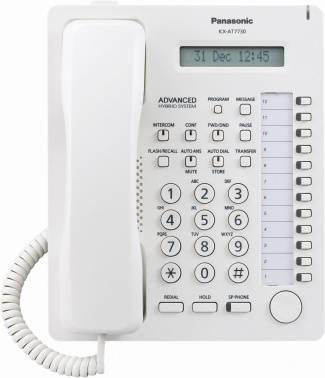 Системный телефон аналоговый Panasonic KX-AT7730RU белый