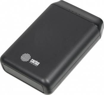 Мобильный аккумулятор CACTUS CS-PBFSST-10000 черный