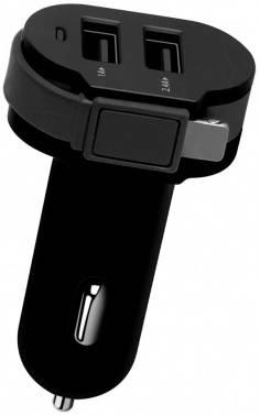 Автомобильное зар./устр. Wiiix CH-U2-9-UMU черный