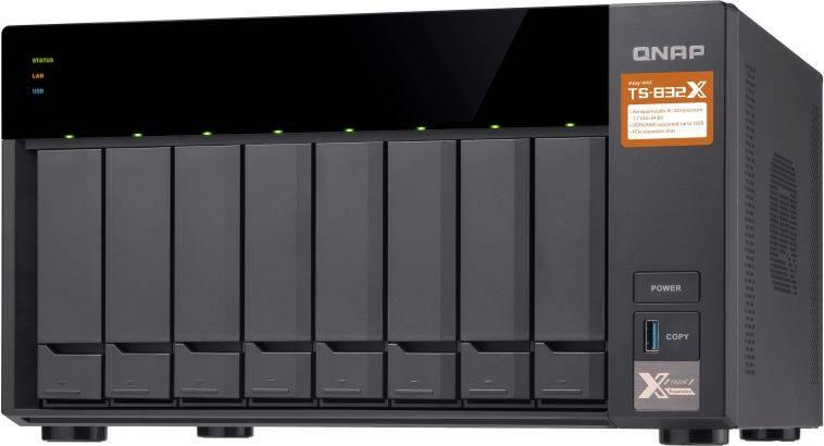 Сетевое хранилище NAS Qnap TS-832X-2G черный - фото 3
