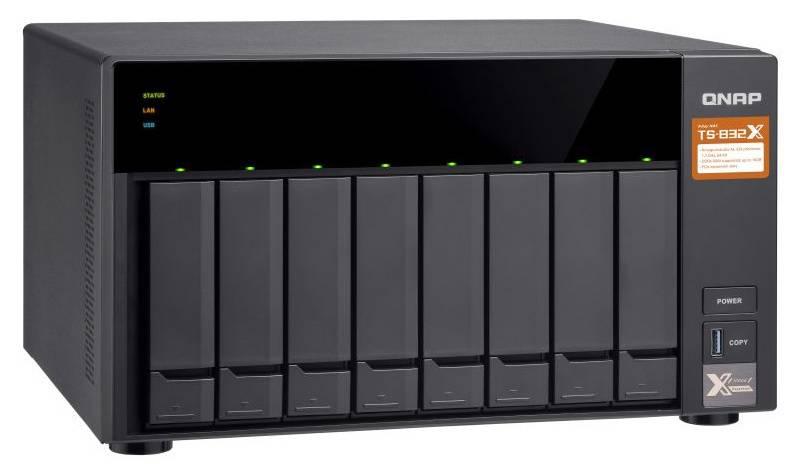 Сетевое хранилище NAS Qnap TS-832X-2G черный - фото 5