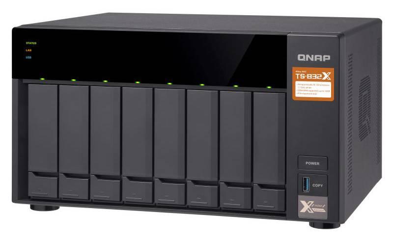 Сетевое хранилище NAS Qnap TS-832X-2G черный - фото 6