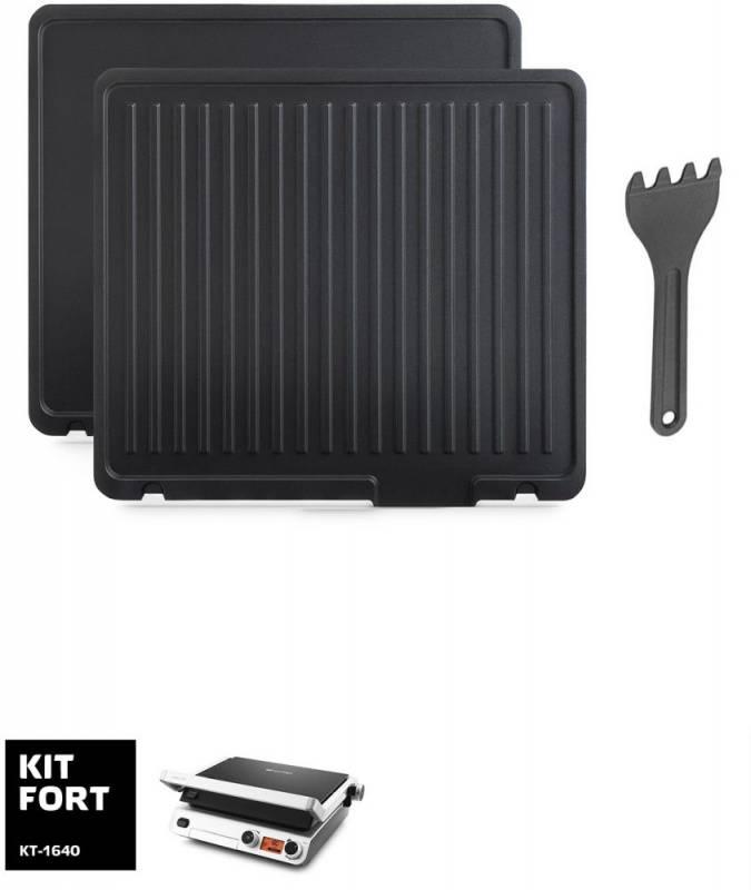 Электрогриль Kitfort КТ-1640 черный - фото 6