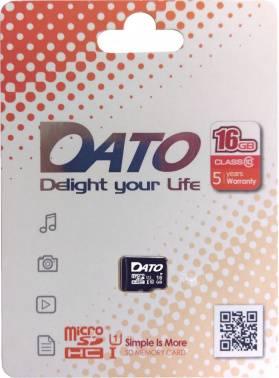 Карта памяти microSDHC 16Gb Class10 Dato (DTTF016GUIC10)