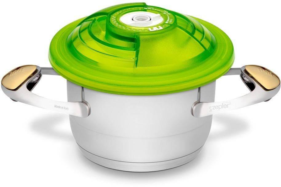 Крышка Zepter VacSy VS-018-16 зеленый диаметр 16см. - фото 3