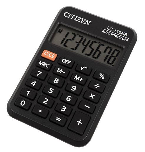 Калькулятор карманный Citizen LC-110NR черный - фото 1