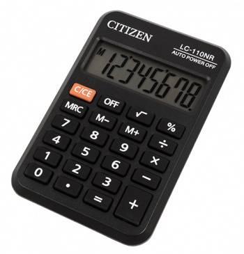 Калькулятор карманный Citizen LC-110NR черный