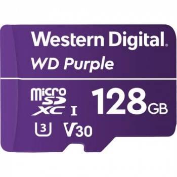 Карта памяти microSDXC 128Gb Class10 WD Purple (WDD128G1P0A)