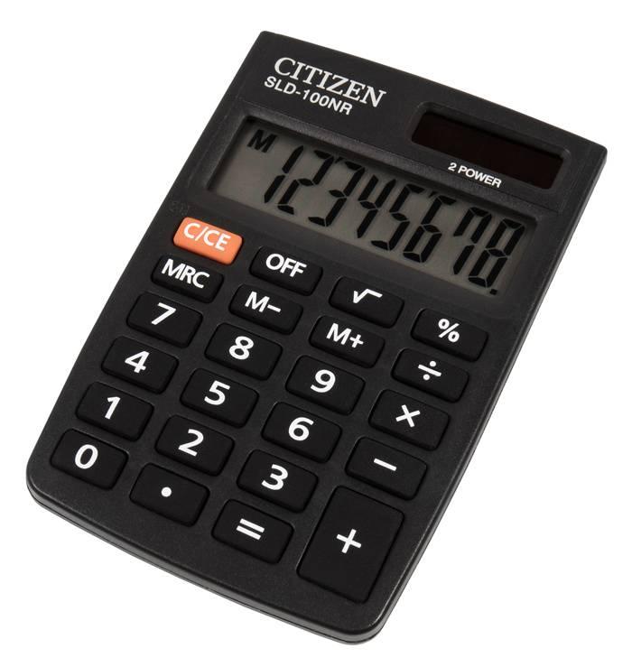 Калькулятор карманный Citizen SLD-100NR черный - фото 1