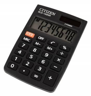 Калькулятор карманный Citizen SLD-100NR черный