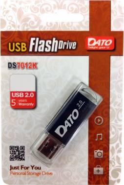 Флешка Dato DS7012 16ГБ USB2.0 черный (DS7012K-16G)