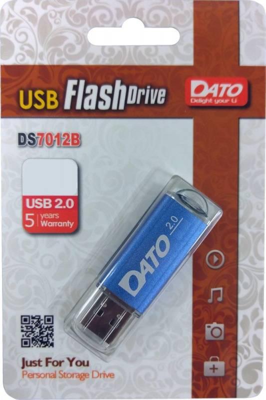 Флешка Dato DS7012 16ГБ USB2.0 синий (DS7012B-16G) - фото 1
