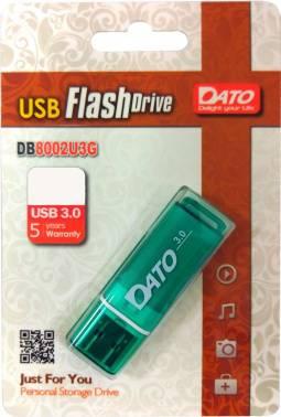 Флешка Dato DB8002U3 32ГБ USB3.0 зеленый (DB8002U3G-32G)