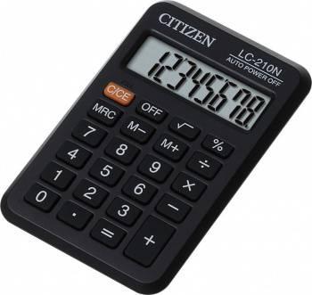 Калькулятор карманный Citizen LC210NR черный