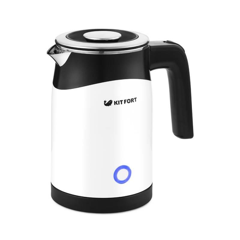 Чайник электрический Kitfort КТ-639 черный/белый - фото 1