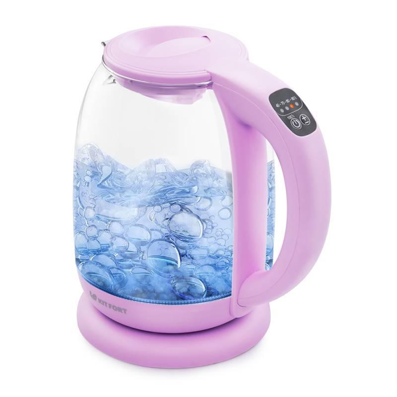 Чайник электрический Kitfort КТ-640-2 сиреневый - фото 1