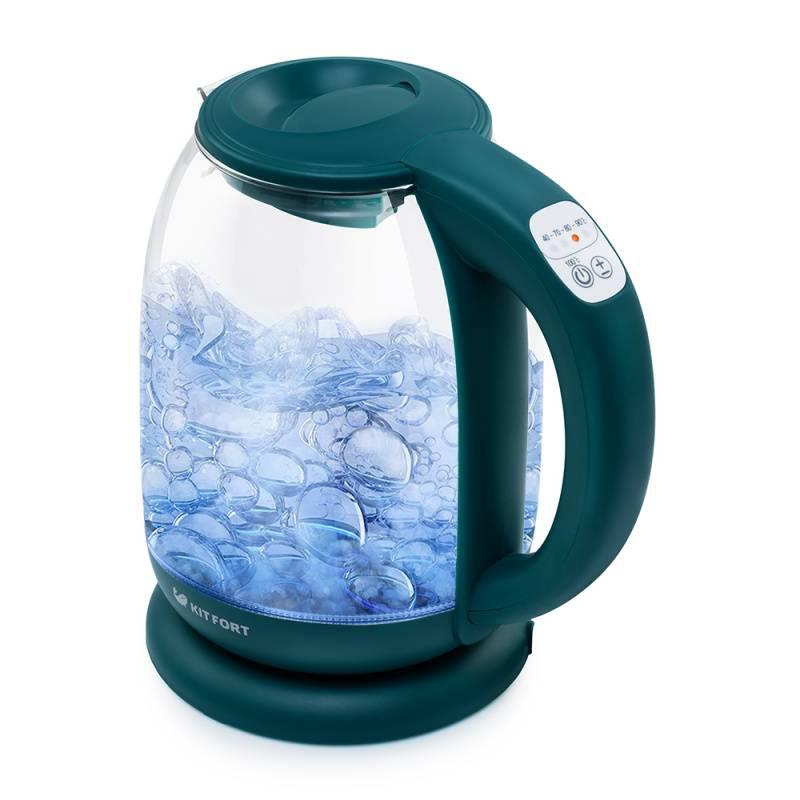 Чайник электрический Kitfort КТ-640-4 изумрудный - фото 1