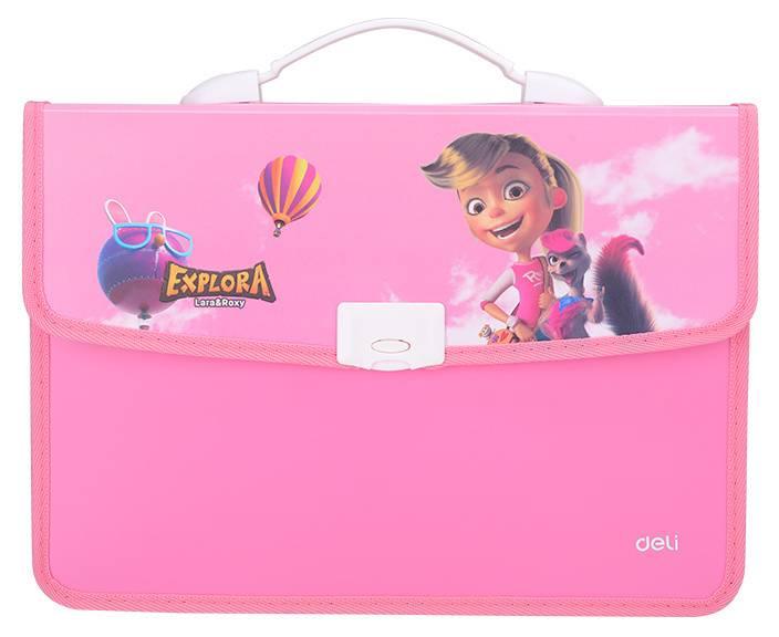Папка-портфель Deli Explora EZ60202 ассорти - фото 1