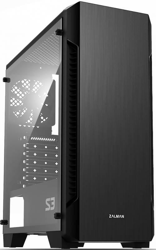Корпус ATX Zalman S3 черный (S3 BLACK) - фото 1