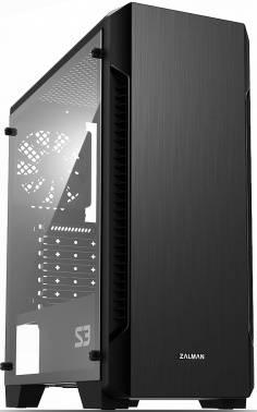 Корпус ATX Zalman S3 черный (S3 BLACK)