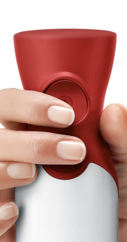 Блендер погружной Bosch MSM64120 белый/красный - фото 5