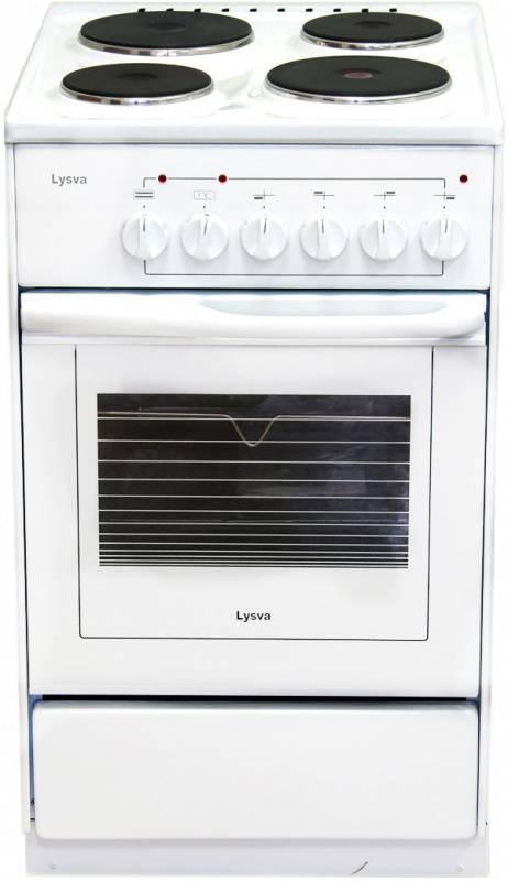 Плита электрическая Лысьва ЭП 4/1э03 МС белый, стеклянная крышка - фото 1