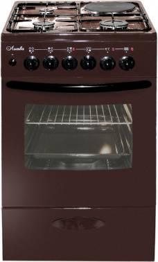 Плита комбинированная Лысьва ЭГ 1/3г14 М2С-2у коричневый, стеклянная крышка