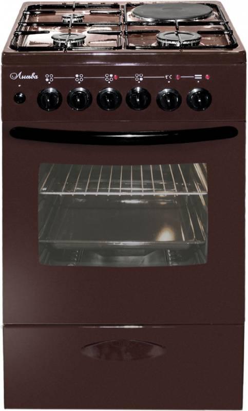 Плита комбинированная Лысьва ЭГ 1/3г14 М2С-2у коричневый, без крышки - фото 1